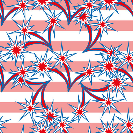 seamless background: Abstract seamless background with USA flag pattern,vector illustration Illustration