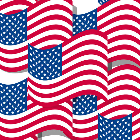 stars background: Abstract seamless background with USA flag pattern,vector illustration Illustration
