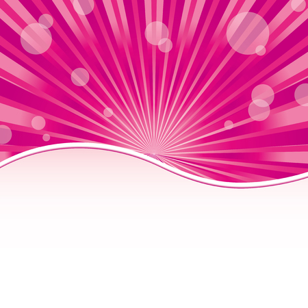 Abstract girly pink background with sunrays and sparkles at pink with place for text, vector illustration. More at my portfolio.