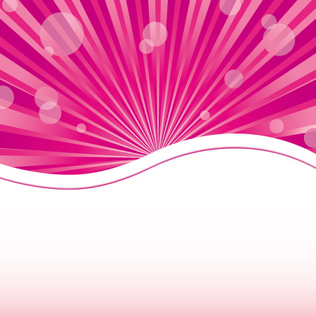 Abstract womanish pink background with sunrays and sparkles at pink with place for text, vector illustration. More at my portfolio. Illustration