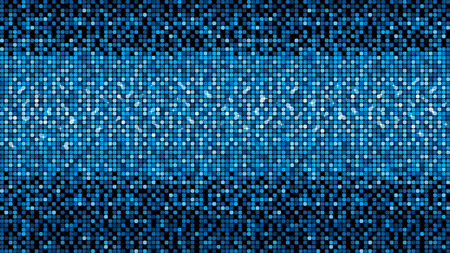 Blue vector neon metallic mosaic with spots light. Bright sparkling base for your design. Vector illustration