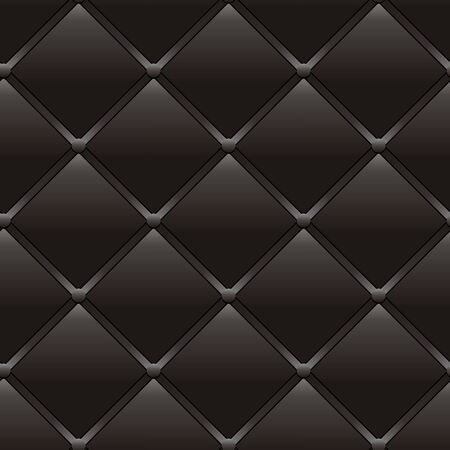 Luxury dark brown seamless leather pattern, abstract seamless old style black background, vector illustration Ilustração