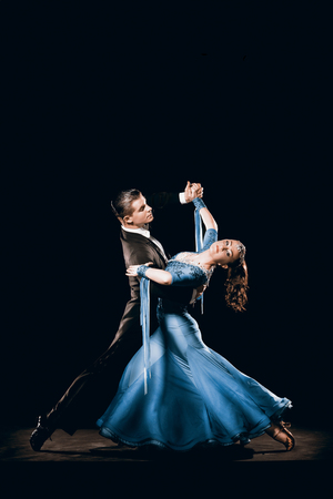 Dramatische argentinischen Tanz-Paar in Tango Championships Wettbewerb Standard-Bild