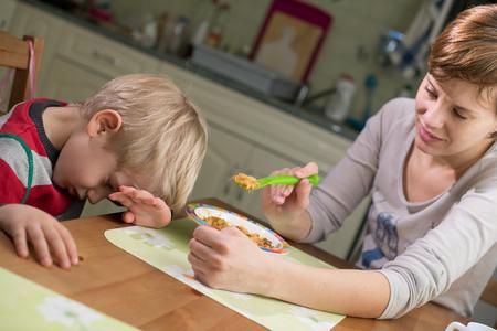 refusing: 3-4 Years Child Boy Refusing Food