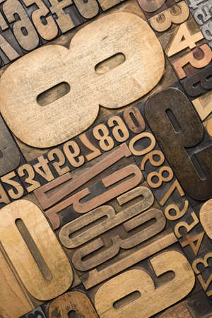 A selection of letterpress numerals