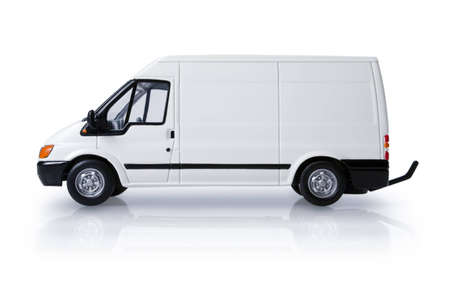 White transit van for commercial branding