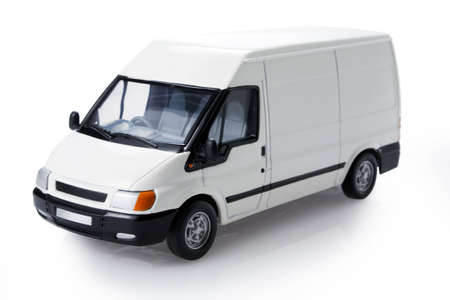 White transit van for commercial branding