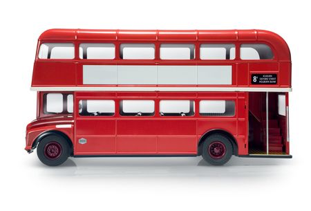 Red London bus isolated on white Stock Photo - 3412850
