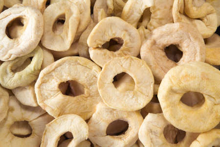 Textured background of apple rings