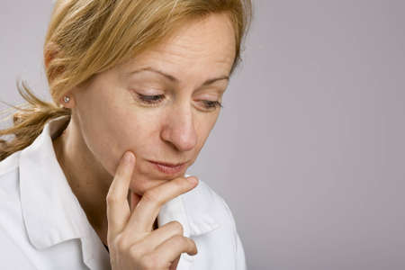 Portrait of thoughtful woman looking into copy space Stock Photo - 4485257
