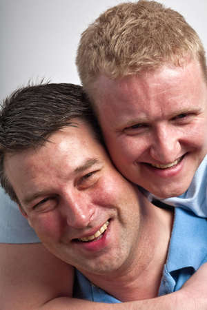 only mid adult men: Portrait of a gay male couple