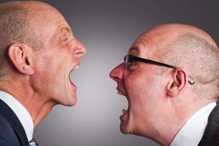 Two businessmen having an argument Stock Photo - 5146950