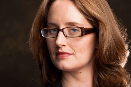 authoritative woman: Portrait of an intelligent woman