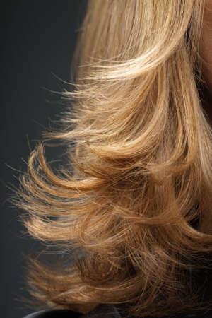 Close-up shot of blonde hair