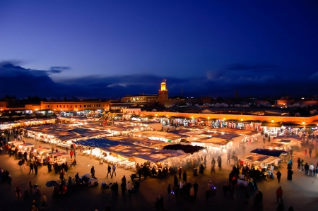 souk: Marrakesh by Night, Famous Djemaa el-Fna Square