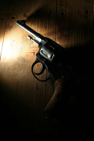 murder: revolver Stock Photo