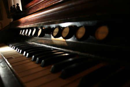 ure: old harpsichord Stock Photo
