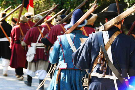 Musketeers on the march