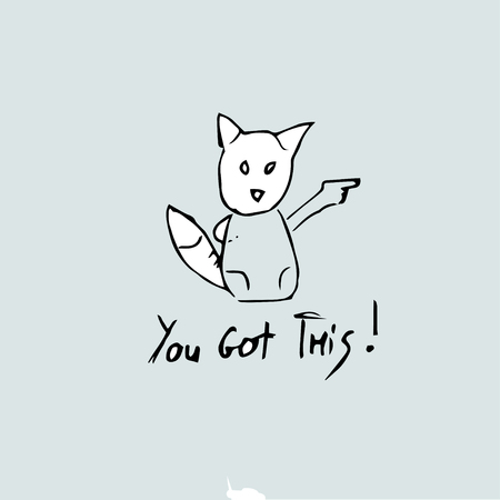 you got this , Vector hand drawn quote template.