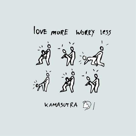 Love more worry less. Kama Sutra Concept. Banque d'images - 121704069