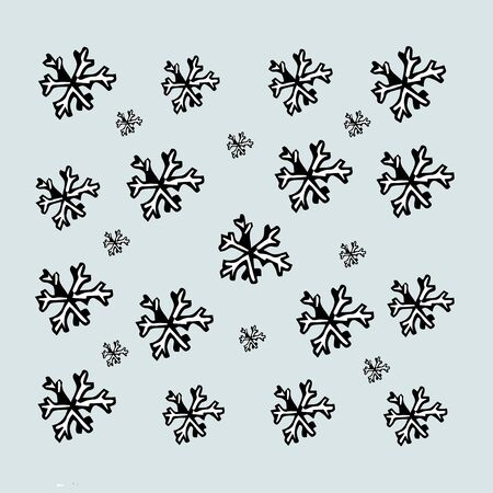 Winter design background,  Illustration -  Snowflakes on a blue background