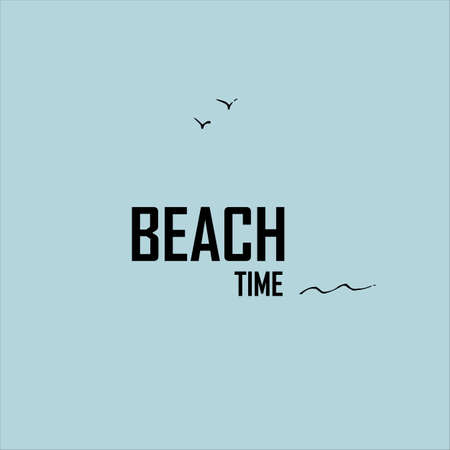 Beach time. Summer vacation idea. Illustration. Creative concept. Stock Photo