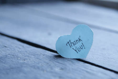 Thank you! The inscription on the plate is in the shape of a heart. Stock Photo