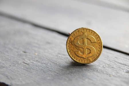 financial background, golden dollar on vintage background