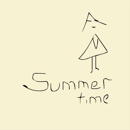 Summer time creative concept. Vector illustration