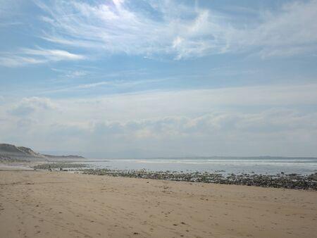 Silverstrand beach Sligo, Ireland, calm and peacefull landscape. Low tide,  Stockfoto