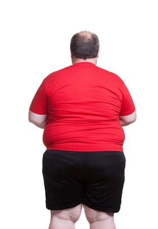 Obese man at 400lbs - back Standard-Bild