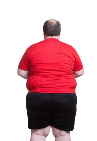 Obese man at 400lbs - back Stock Photo - 8032637