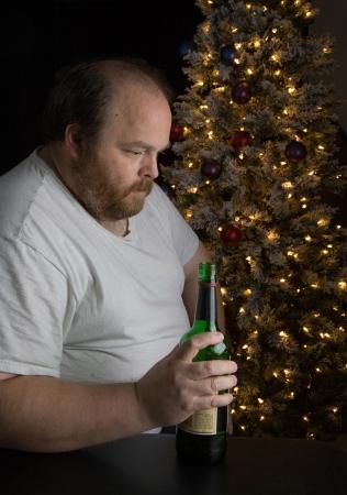 Middle-aged man dealing with seasonal depression Standard-Bild