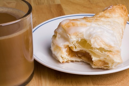 turnover: Coffee and an fresh Apple turnover for breakfast