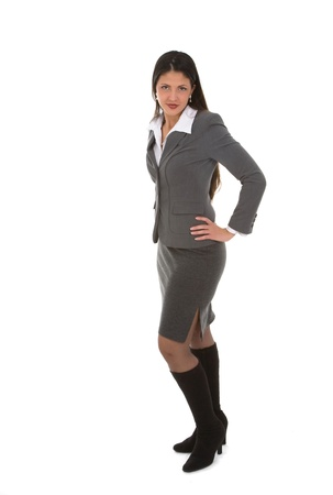 Young student or business woman in fashionable business suit photo