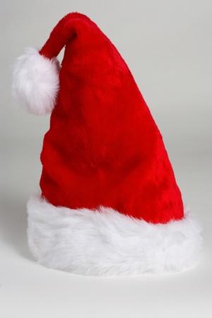 stocking cap: Santas hat on white background Stock Photo