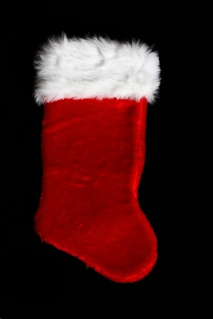 Line Of Four Christmas Stockings With Merry Christmas Sign Under ...