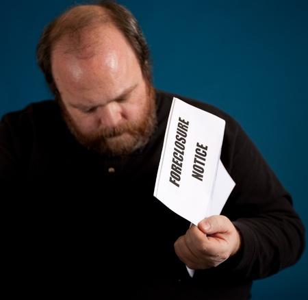 Man deep in debt photo