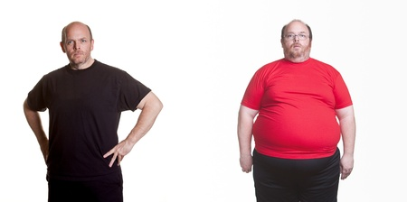 obesidad: 18 meses de una alimentación sana y el ejercicio - 180 libras perdidos Foto de archivo