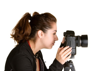 early twenties: Young and attractive hispanic woman in her late teens to early twenties Stock Photo