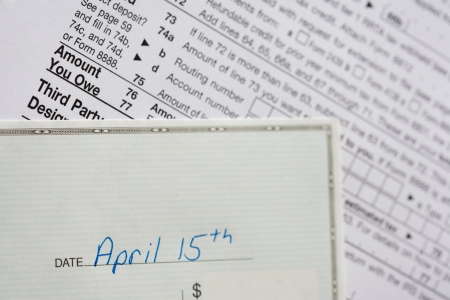 Check dated April 15th against a IRS form