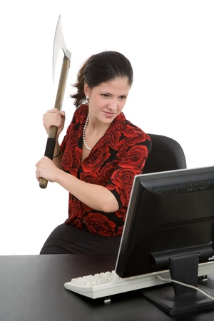 computer user: Frustrated computer user Stock Photo
