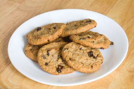 Outmeal cookies with raisins. Фото со стока
