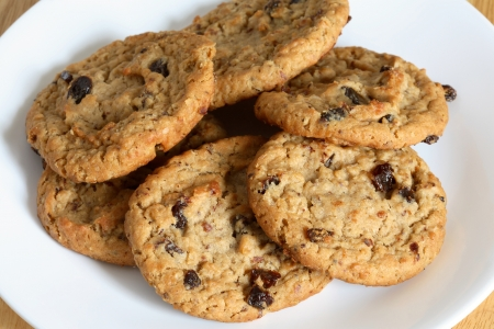 raisins: Outmeal cookies with raisins. Stock Photo