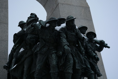 sacrifices: Canadian War Memorial in silhouette