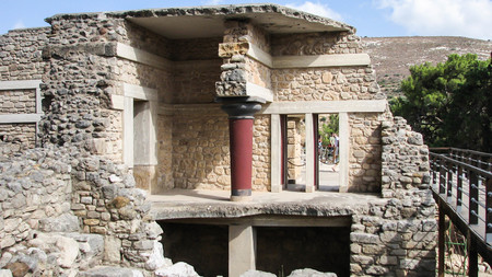 The ancient palace of the Minoan Civilization at Knossos, Crete