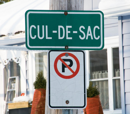 Traffic sign in French