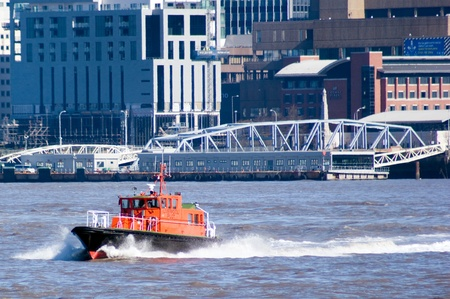 mersey: Liverpool pilot Kittiwake in the River Mersey. Editorial