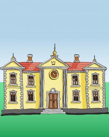 maison de maitre: Palais royal vecteur