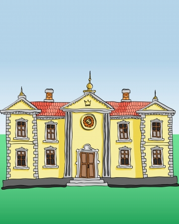 Royal palace vector Vector